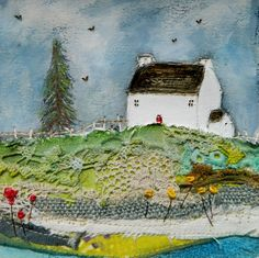 ''Home to roost'  by Louise O'Hara of DrawntoStitch https://www.facebook.com/DrawntoStitch