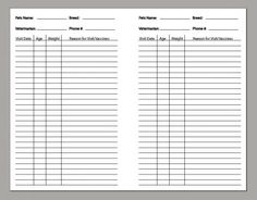 Pet Care Records  http://www.diyplanner.com/templates/directory?page=16