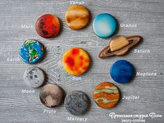 Cookie Solar system by Peony cookies Galaxy Cookies, Galaxy Cupcakes, Galaxy Cake, Space Cupcakes, Solar System Cake, Planet Cake, Astronaut Party, Outer Space Party, Cupcake Tutorial