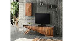 Different Tv Unit Furniture, Cabinet Furniture, Furniture Decor, Living Room Furniture, Tv Panel, Diy Design, Interior Design, Modern Console Tables, Minimalist Furniture