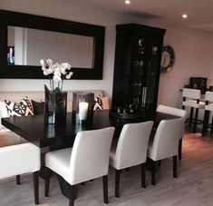 50 Inspiring Dinning Room Furniture Decor Ideas - Home Decoration Inspiration, Room Inspiration, Decor Ideas, Creative Inspiration, Wall Ideas, Interior Decorating, Interior Design, Decorating Ideas, Dining Room Design