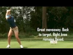 Brittany Lang golf swing face on - YouTube