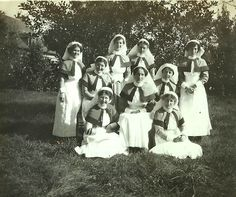 https://flic.kr/p/aEg5g1 | Unsung heros - World War 1 nurses | On Remembrance Sunday it seems fitting to post an image of some of the unsung heros (heroines) of conflict.  I believe taken in northern France, probably c. 1916, this image is from Nurse Ripley's album - www.flickr.com/photos/whatsthatpicture/sets/7215762769463...  There's a nice piece about WW1 nurses, and the newly available online records, on the Ancestry blog - blogs.ancestry.com/uk/2011/11/13/nurses-and-the-wounded-i...