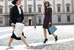 me & Nancy Zhang for Porsche Design - Twin Bag in Milan #streetstyle by Phil Oh #eleonoracarisi #nancyzhang