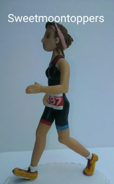 """www.sweetmoontoppers.com personalised runner. 6"""" tall Cake Toppers, Running, Keep Running, Why I Run"""