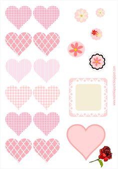 MeinLilaPark – DIY printables and downloads: free digital heart scrapbooking embellishment + DIY tags - Herz Sticker - freebie