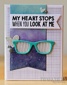 Ombre Glasses by Laina Lamb Paper Crafts & Scrapbooking blog; make cards, ombre, love