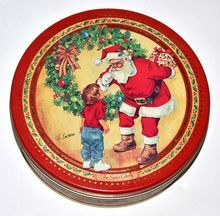 Swiss Colony ~ H. Endres Christmas Santa Candy Tin