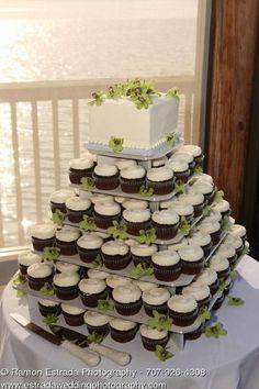 Wedding cupcakes instead of cake.