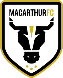 Macarthur FC Logo A-League Australia Brisbane Gold Coast, Brisbane City, Soccer Logo, Sports Logo, Club Soccer, Sydney Fc, New Hyundai, Professional Soccer, Juventus Logo