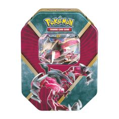 """Yveltal EX Collector Tin 2016 Shiny Kalos Pokemon USA. A great Legendary Pokémon-EX is revealed! Choose the destructive force of Shiny Yveltal-EX in the Pokémon Trading Card Game: Shiny Kalos Tin! This rugged tin contains a mighty Pokémon-EX from the Kalos region—ready to battle and ready to win! Each Pokémon TCG booster pack contains 10 cards. Each player must have a 60-card deck of Pokémon cards to play. Expand your Pokémon Trading Card Game collection with """"10 Additional Game Cards""""..."""