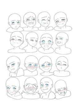 Body Drawing Tutorial, Manga Drawing Tutorials, Manga Tutorial, Eye Tutorial, Art Tutorials, Drawing Face Expressions, Anime Faces Expressions, Facial Expressions, Art Drawings Sketches Simple