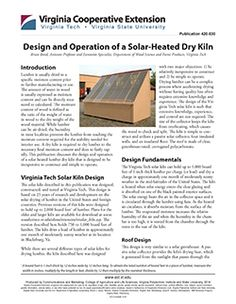 Cover, Design and Operation of a Solar-Heated Dry Kiln Wood Kiln, Wood Slab, Woodworking Techniques, Woodworking Projects, Solar Kiln, Kiln Dry, Wine Bottle Stoppers, Urban Farming, Joinery