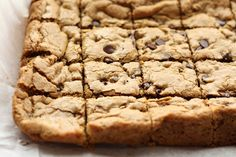 Classic Chocolate Chip Blondies recipe by Barefeet In The Kitchen - this will be the first