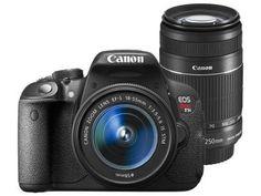 """CLIQUE DUAS VEZES NA FOTO!  Câmera Digital Canon EOS Rebel T5i Premium Kit - 18MP Profissional Visor 3"""" Filma Full HD com as melhores condições você encontra no Magazine Precoliquidacao. Confira!"""