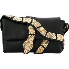 417a1092be0 Red Valentino snake detail shoulder bag ( 1,125) ❤ liked on Polyvore  featuring bags,