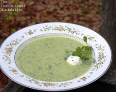 Cauliflower, Pea Shoot and Sorrel Soup | The Intentional Minimalist