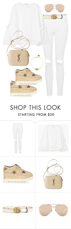 """Unbenannt #588"" by vanileeeeeeen ❤ liked on Polyvore featuring Topshop, MANGO, STELLA McCARTNEY, Yves Saint Laurent, Gucci, Linda Farrow and Katie Dean Jewelry"