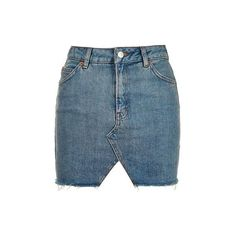 Topshop Moto Denim Cut Out Mini Skirt (€17) ❤ liked on Polyvore featuring skirts, mini skirts, bottoms, mid stone, denim skirt, blue denim skirt, cut out skirt, short blue skirt and denim miniskirt