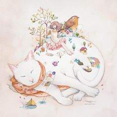 Mixed Media Illustrations by Valerie Ann Chua