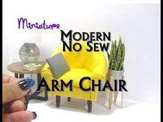 No Sew Armchair, Side Chair, Club Chair, Lounge Chair Dollhouse Furniture Miniature Furniture Modern - YouTube