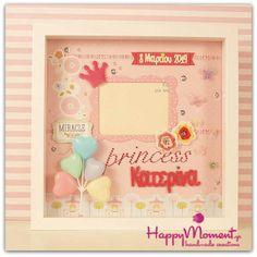 Nursery wall art with princess crown! Canvas Frame, Canvas Wall Art, Box Frames, Nursery Wall Art, Art Deco, Crown, Princess, Home Decor, Corona