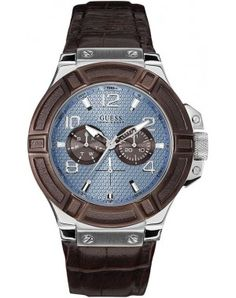 GUESS Mens Rigor Analog Display Quartz Brown Watch for sale online Trendy Watches, Sport Watches, Watches For Men, Guess Watches, Men's Watches, Swatch, Mens Watches Leather, Watch Sale, Casio Watch