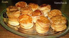 Lístkujúce oškvarkové pagáče (fotorecept) Easter Recipes, Biscuits, Cheesecake, Muffin, Food And Drink, Appetizers, Cooking Recipes, Bread, Snacks