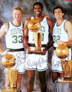 Larry Bird, Robert Parrish, Kevin McHale