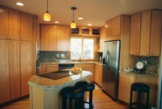Brown Colored Kitchen in Wooden Design Ideas | Interior Minimalist Design
