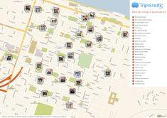 Free Printable Map of Savannah attractions.