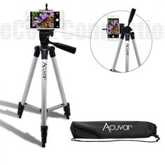 Buy Acuvar Inch Aluminum Camera Tripod and Universal Smartphone Mount For All Iphones, Samsung Phones and many more at Discounted Prices ✓ FREE DELIVERY possible on eligible purchases. Phone Tripod, Camera Tripod, Android Notes, All Iphones, Bluetooth Remote, Best Smartphone, Clean Microfiber, Phone Mount, Cell Phone Holder