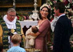 Princesse marie , prince frederik  baptême de isabella