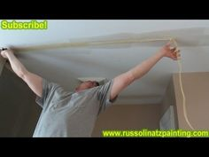 ▶ DIY - Repair Cracks in the Ceiling by Removing Old Drywall Tape (Part 3) - Drywall Repair - YouTube