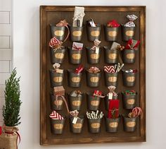 Gilt Galvanized Advent Calendar | Pottery Barn