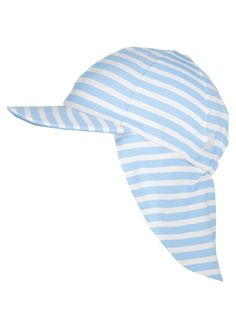 8c2e01b6a183f Sky Blue And White Striped Legionnaire Hat by Mitty James Kids Beachwear