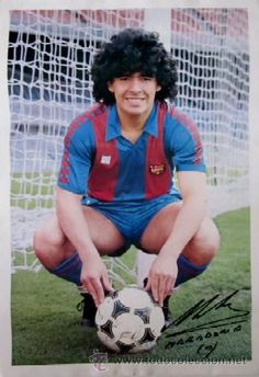 POSTER MARADONA - F.C. BARCELONA AÑO 1982