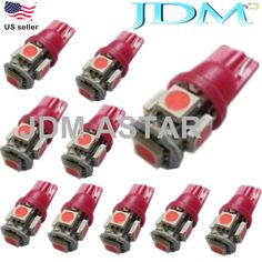 JDM ASTAR 10x T10 Pink 5050 SMD LED Car Interior Festoon Map Dome Light 194 168  #JDMASTAR