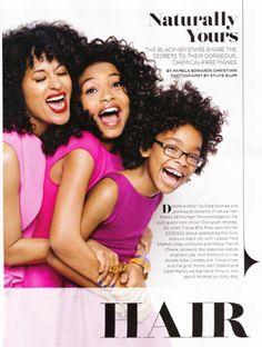 Tracee Ellis Ross, Yara Shahidi and Marsai Martin featured in Essence Magazine (May 2015 issue)