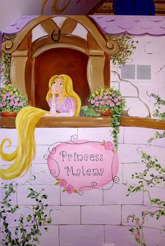 Rapunzel Mural, Princess Tower   I painted a little girl's f…   Flickr