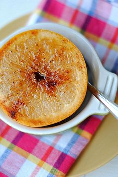 Cinnamon and Honey Spiced Grapefruit; 118 calories per 1/2 grapefruit
