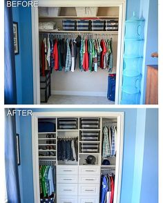 Before and after closet organization, so inspiring! Credit to @organizinghomelife... - Home Decor For Kids And Interior Design Ideas for Children, Toddler Room Ideas For Boys And Girls
