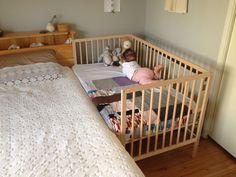 Ikea crib bumper crib bedding baby crib attached to bed baby crib attached to bed baby . Baby Bedroom, Baby Room Decor, Kids Bedroom, Co Sleeper Cot, Bedside Crib Co Sleeper, Baby Bedside Crib, Baby Room Design, Bed Design, Baby Furniture