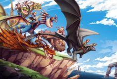 Berk mascots by MVpurplespot.deviantart.com on @DeviantArt