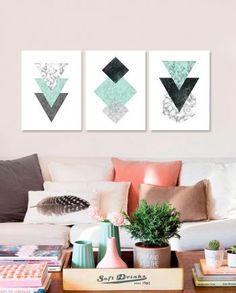 Coaster Furniture, Art Abstrait, Wall Art Sets, Abstract Wall Art, Decoration, Living Room Designs, Interior Decorating, Room Decor, Hulk