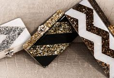 Glitz. Yes. Seriously snazzy clutches. Perfect if there's also a chain strap tucked inside to throw over your shoulder!