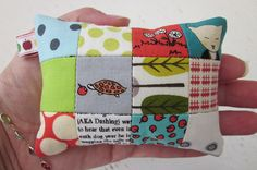 "1"" patchwork pincushion by s.o.t.a.k handmade"