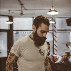 Ricki Hall x P&CO - Slick Rick's oh my oh my oh my so hot I Love Beards, Beard Love, Awesome Beards, Perfect Beard, Moustaches, Hipsters, Ricki Hall, Moda Hipster, Hipster Style