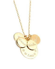 Gold Language of Love Charmed Necklace