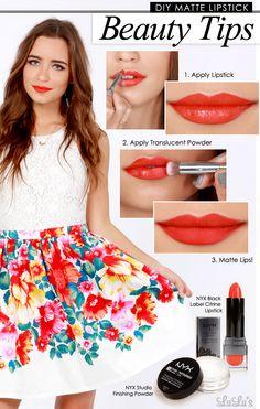 Beauty Tip Tuesday: Make Any Lipstick Matte